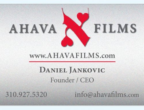AHAVA PRODUCTIONS BUSINESS CARDS